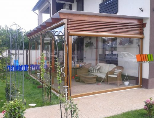 Vrei să închizi terasa cu prelată transparentă?