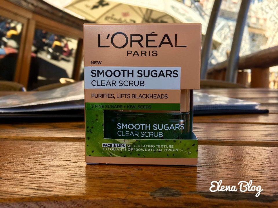 smooth sugar scrubs – exfoliant pentru față și buze de la l'oréal paris