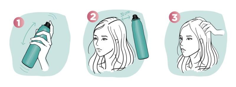 șampon uscat pentru volum, care nu lasă urme albe