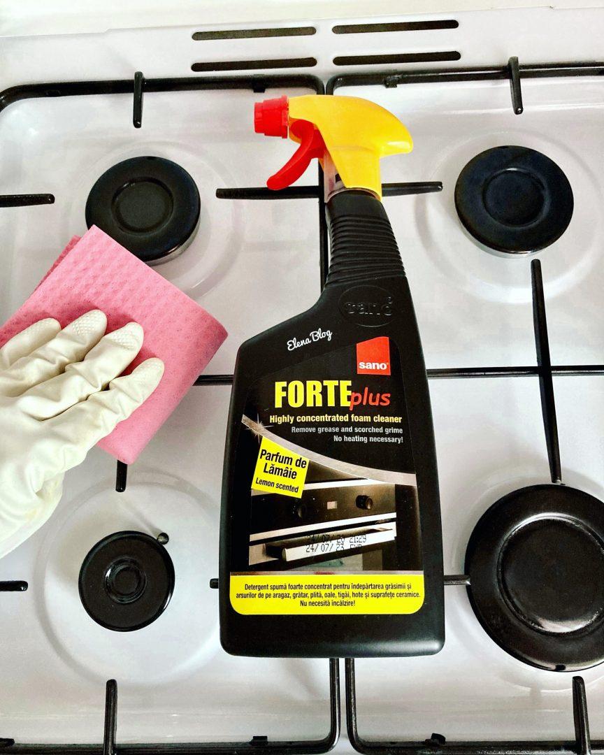 Scapă rapid de petele de grăsime din bucătărie cu Sano Forte Plus Lemon